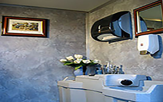 portable toilet interior