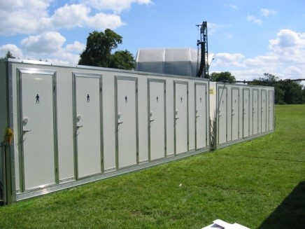 portable toilets exterior