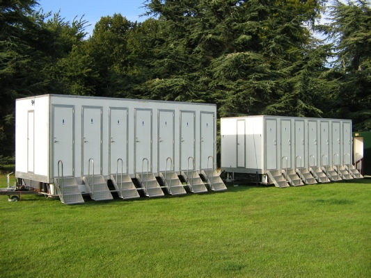 portable toilets outside