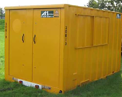 yellow office container